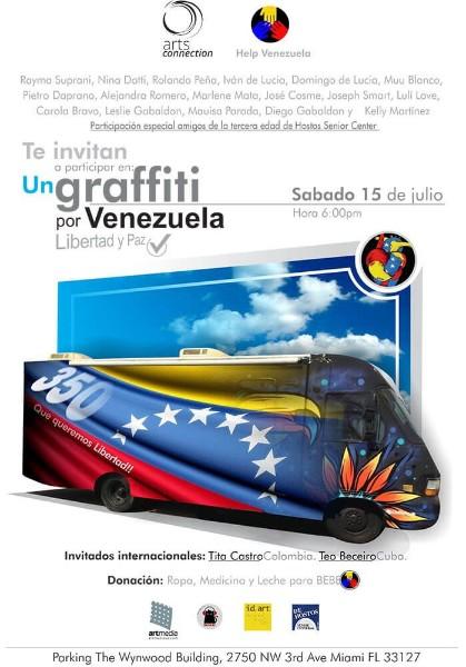 Foto de Un graffiti por Venezuela